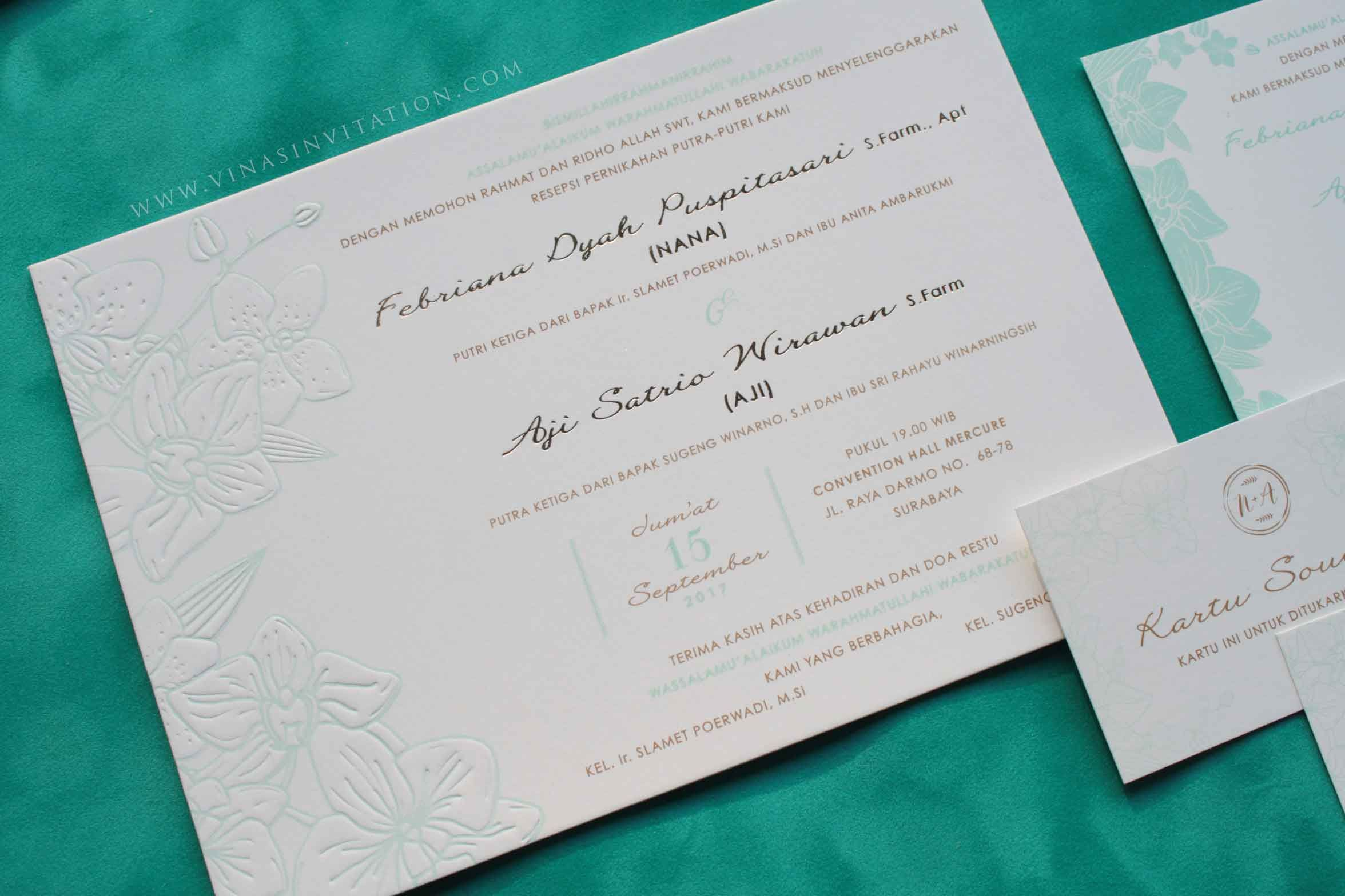 Vinas invitation. custom invitation.Indonesian wedding. wedding ...