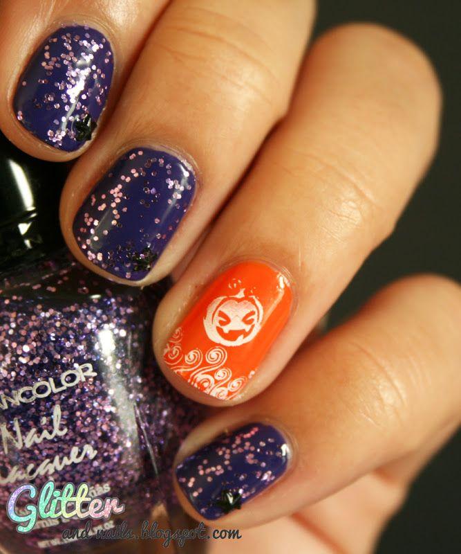 Cute pumpkin nail! #Halloween | Holiday Nails | Pinterest ...