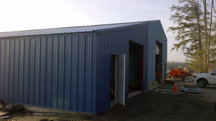 Steel Buildings Ontario >> This 30 Wide By 60 Long Steel Building Addition Was