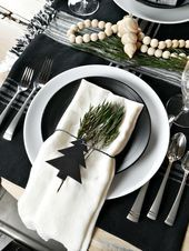 Scandinavian Inspired Christmas Table - Taryn Whiteaker