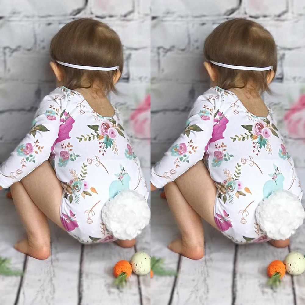 776ea98f414e USA Seller Infant Baby Girls Bubble Tail Romper Floral Playsuit Jumpsuit  Clothes  CANIS  Casual