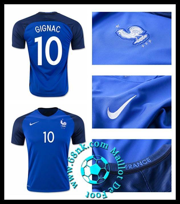 b97e318abe38c Maillot De Foot Pas Cher Avec Flocage France Maillots Euro 2016-2017 GIGNAC  homme Domicile