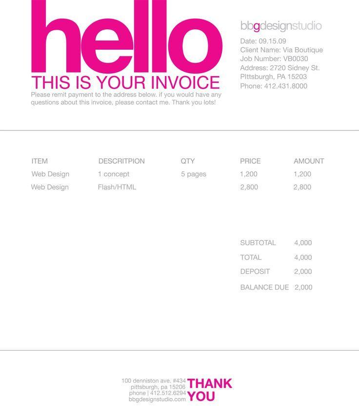 Image Result For Freelance Invoice Cv Pinterest