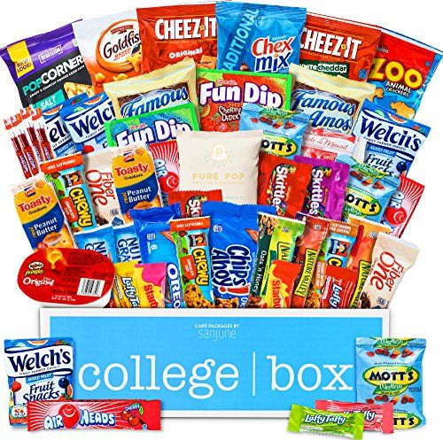 College Box Care Package (60 Count) Snacks Cookies Bars