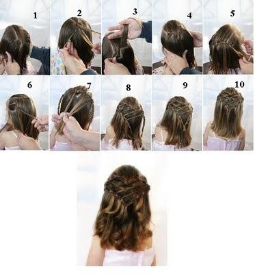 Hairstyles For Girls Dance Recitals Short Hair Little