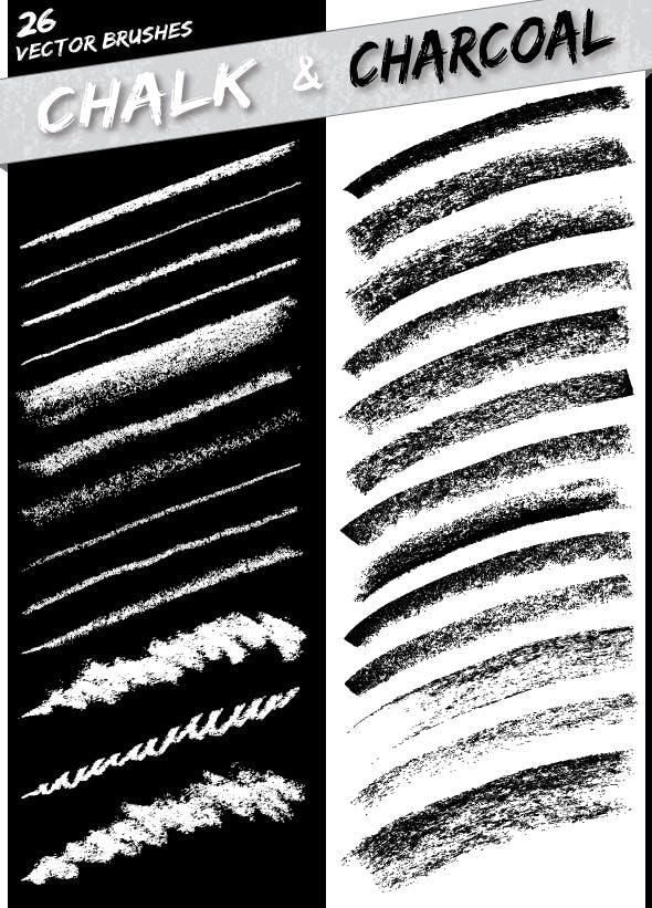 Chalk and Charcoal Brushes in 2020 Vector brush, Chalk