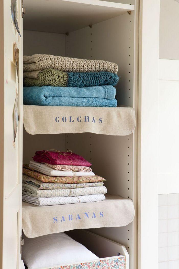letras con stencil para ordenar armarios