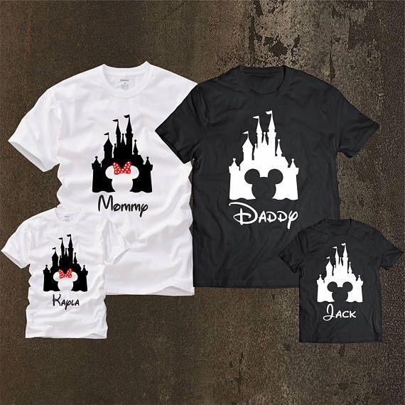 Camisas Familia Disney Emparejando Camisetas