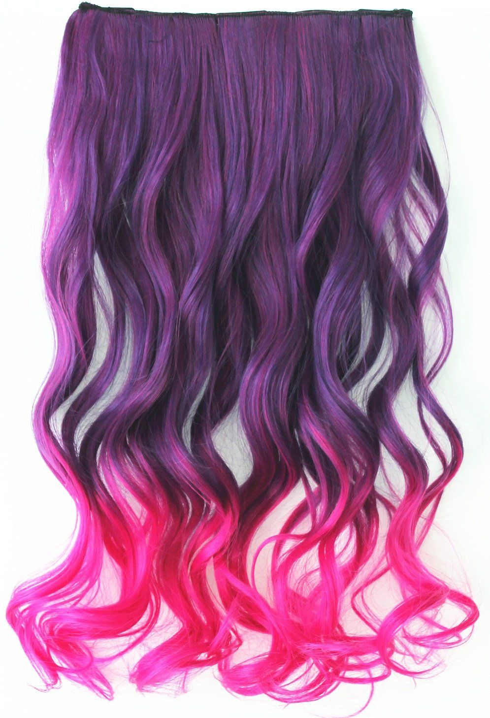 22 Ladies Women Fashion One Piece Clip In Hair Extension Long Curly