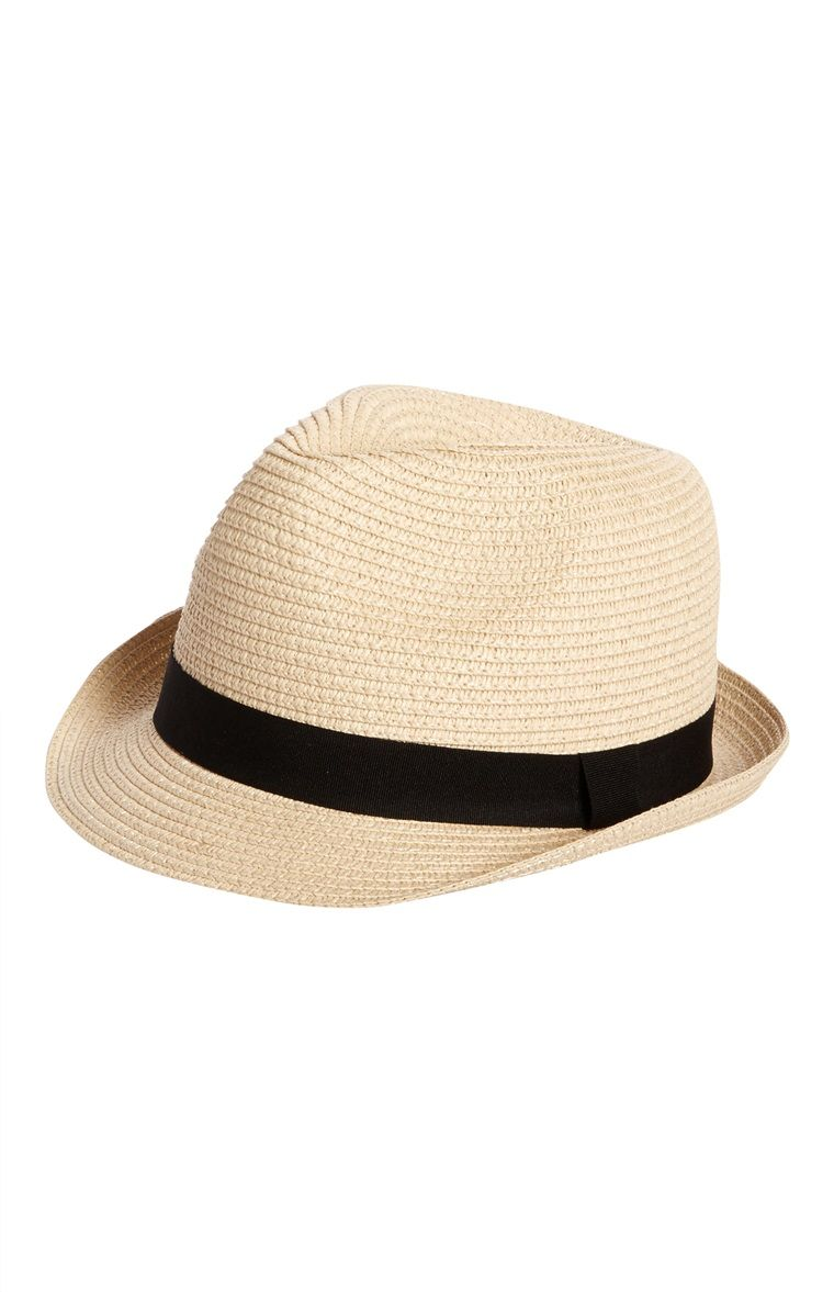 5902fbda6 Primark - Natural Straw Trilby Hat | My list - Primark | Trilby hat ...