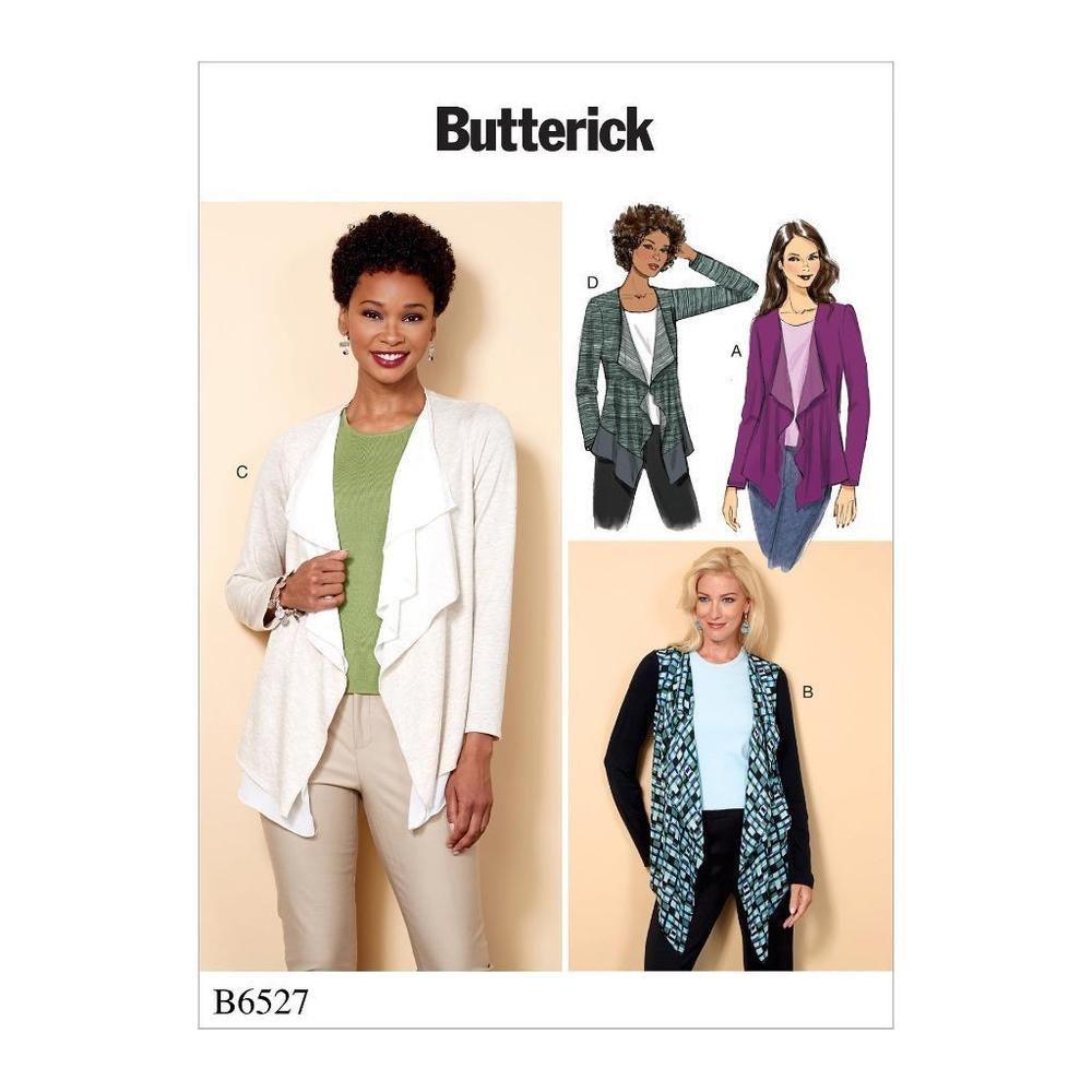 Details zu Butterick Nähmuster Misses einfach Jacke vorne extands in ...