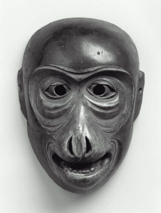 Kyogen mask of the Saru type  狂言面 猿  Japanese, Edo period, 17th century •●