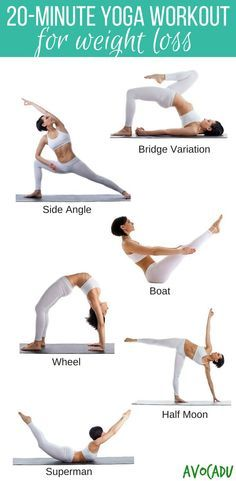 20 Minute Yoga Workout For Weight Loss | Avocadu