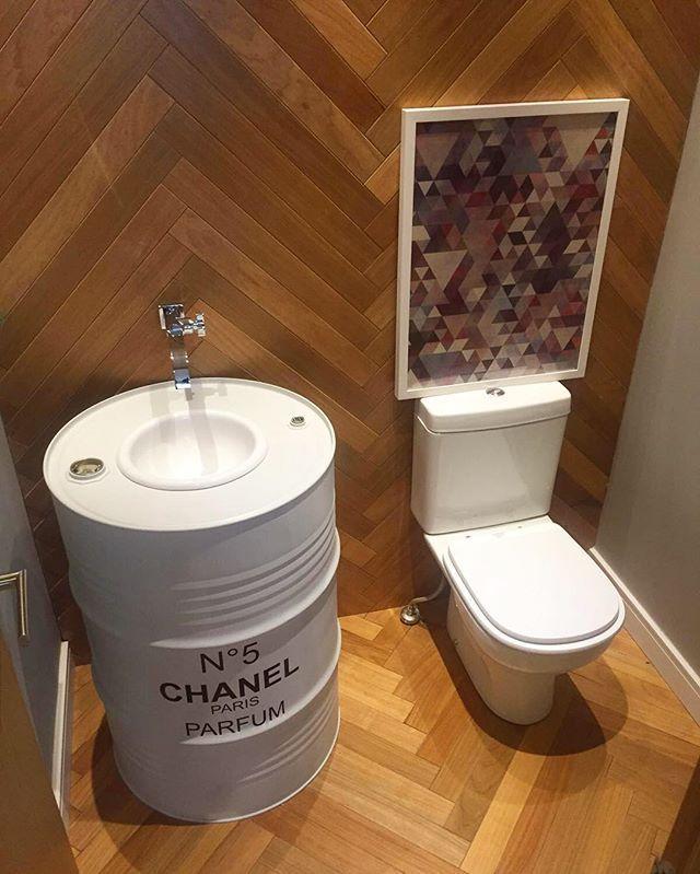 Beer Keg Bathroom Sink: Tambor Decorativo Chanel. #TamborDecorativo