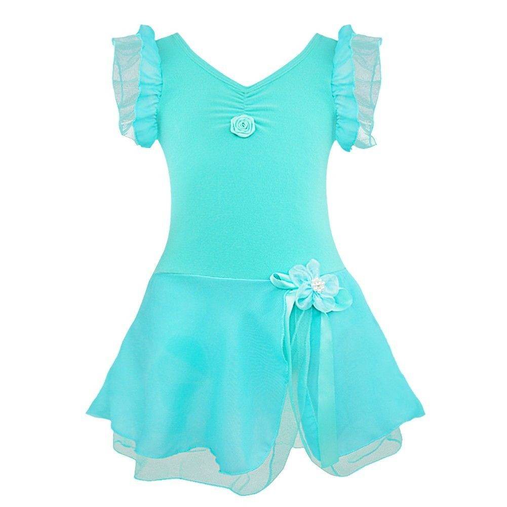 eb1ab8851 iEFiEL Turquoise Kids Girls Tutu Ballet Dance Dress Leotard Fancy ...
