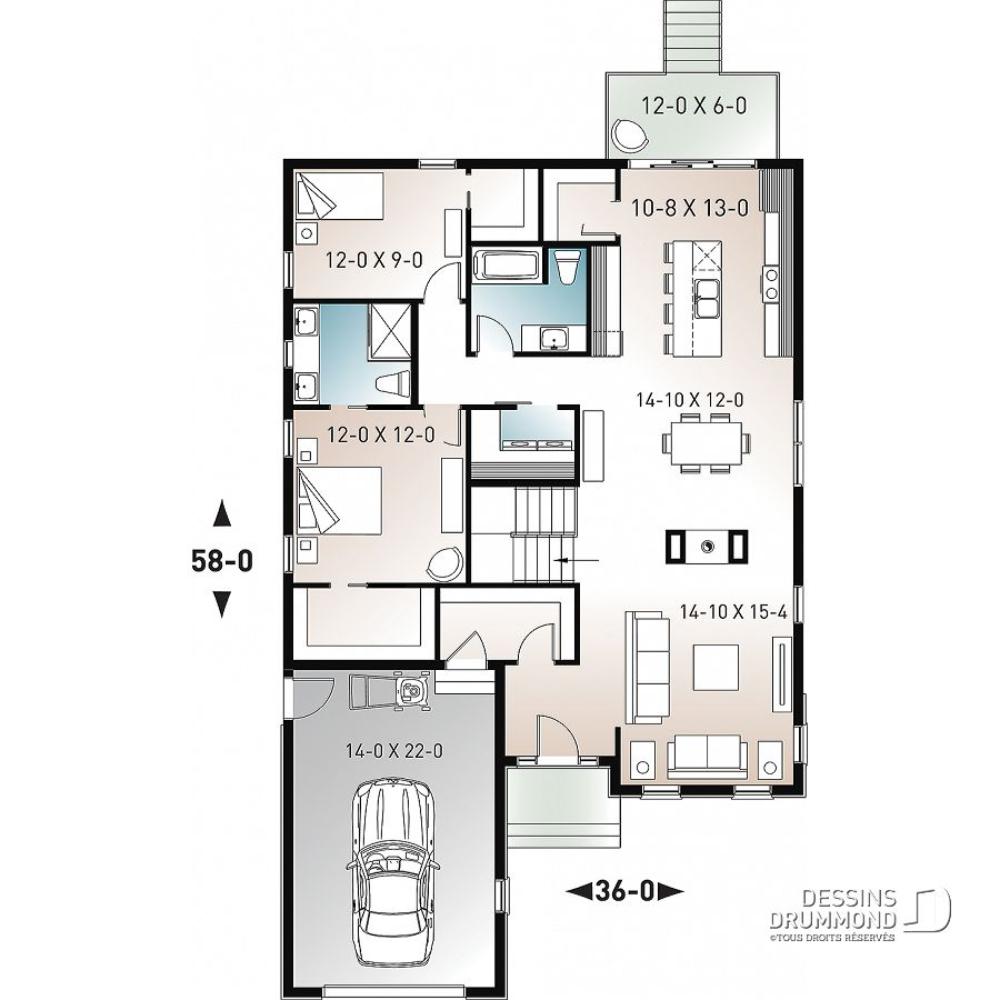 Images Du Plan De Maison Unifamiliale W3137 6