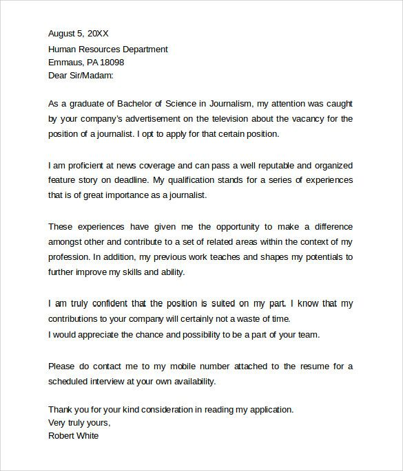 Sample Professional Cover Letter Example Free Documents Pdf