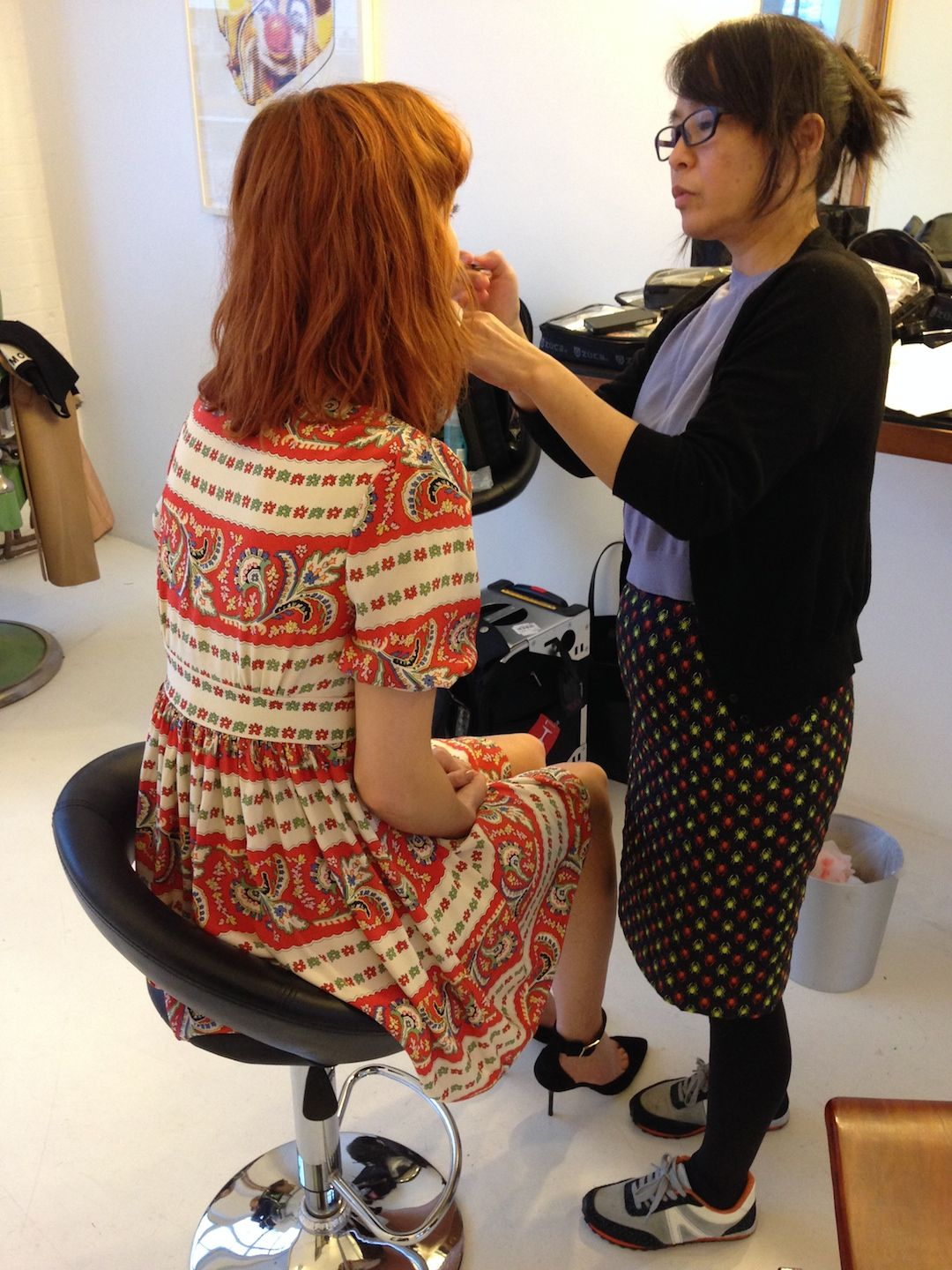A little behind the scenes action our Fashion magazine shoot #johnlewis