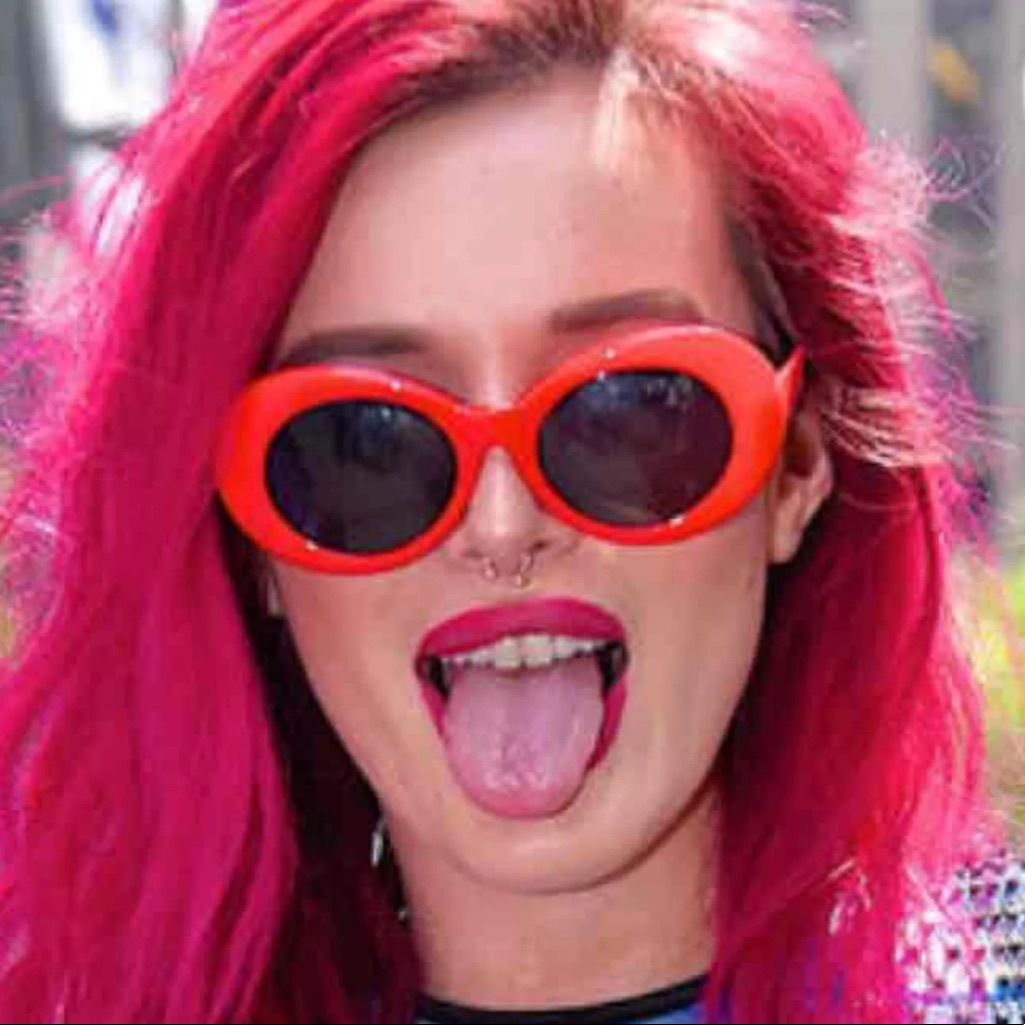 9d51421cdc Red Retro Oval Clout Sunglasses  Goggles