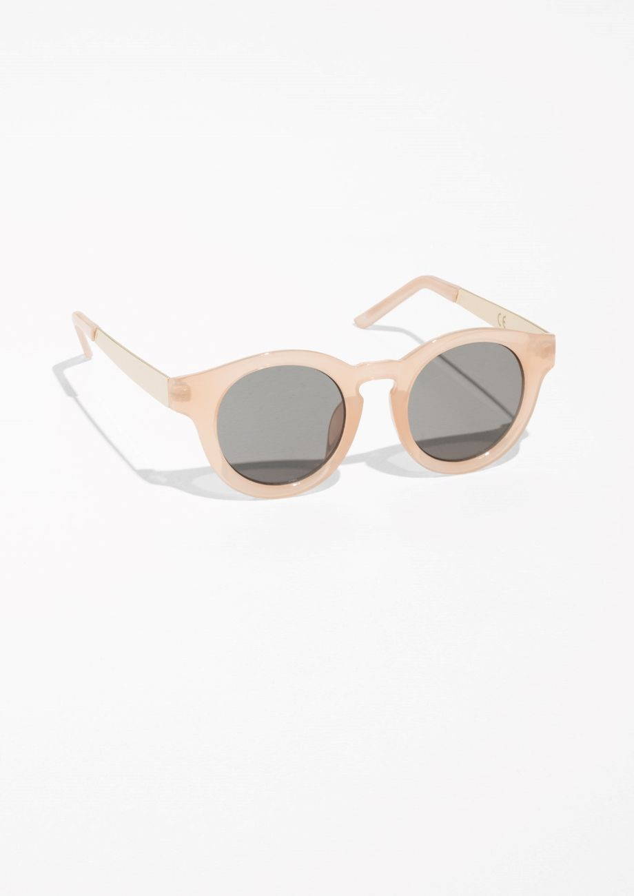 & Other Stories Round Frame Sunglasses in Pale Pink | SS/17 ...