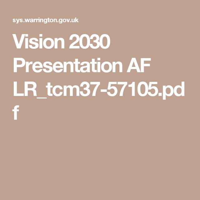 Vision 2030 Presentation Af Lr Tcm37 57105 Pdf Presentation Visions Image