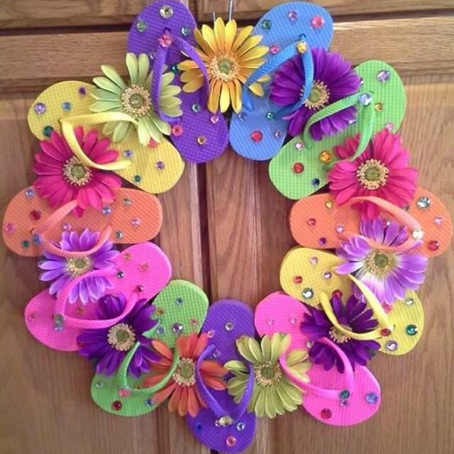 Flip Flop Wreath No Instructions Only Photo Summer Holidays