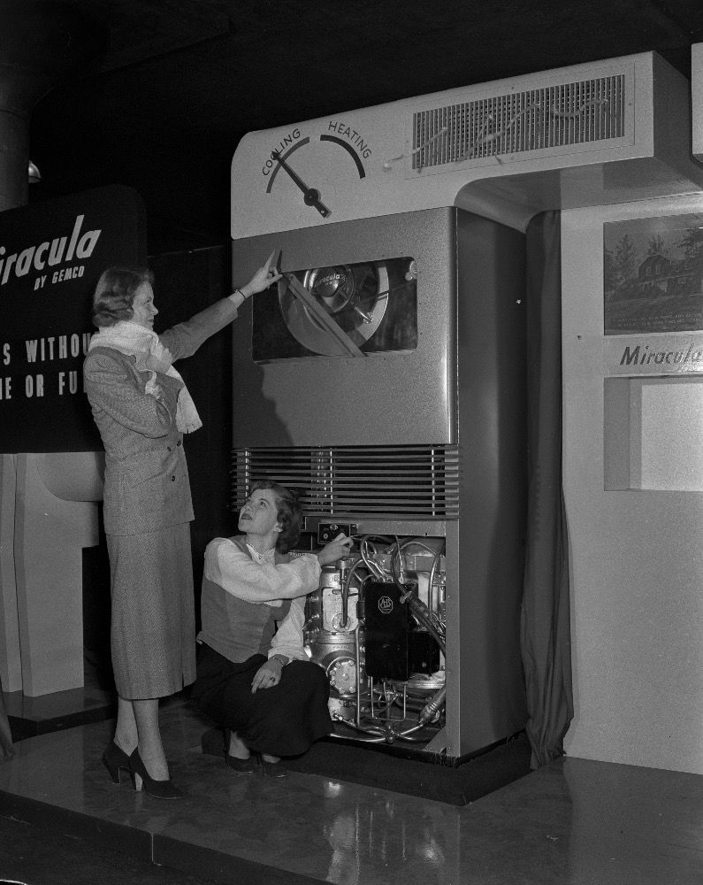 Throwback To The Miracula Air Source Heat Pump From A 1948 Trade