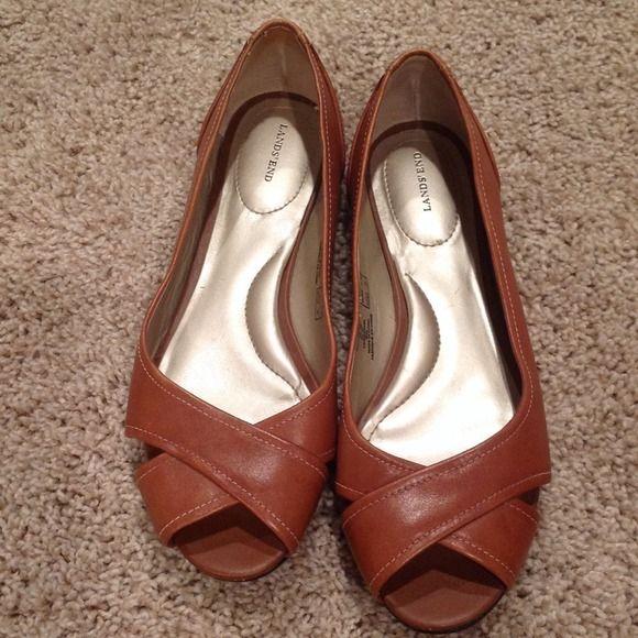 Leather flats, Peep toe flats, Leather