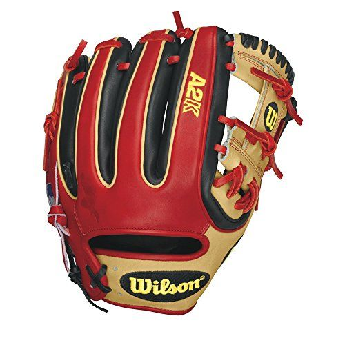 Wilson A2k Datdude Brandon Phillips Infield Baseball Glove Blonde Black Red Right Hand Throw 11 5 Baseball Glove Baseball Glove Size Vintage Baseball Gloves