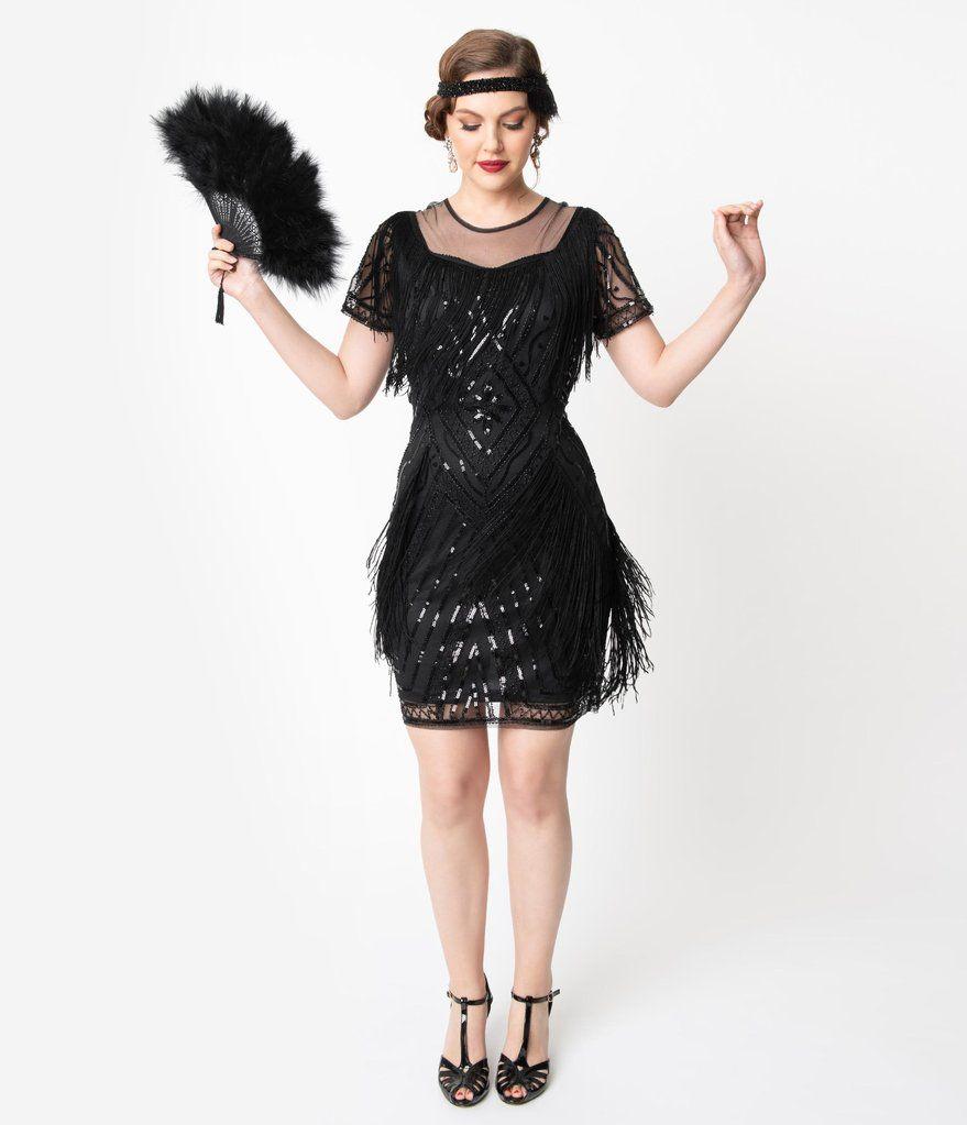 Unique Vintage Black Beaded Sleeve Fringe Le Havre Cocktail Flapper Dress In 2021 Sophisticated Cocktail Dress Beaded Flapper Dress Dresses [ 1023 x 879 Pixel ]