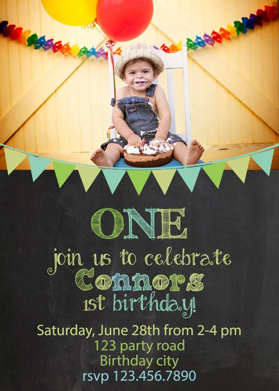 Card Template Birthday Bunting Banner Chalk Chalkboard Baby Boy Shabby Chic Photography Photographer Design PHOTOSHOP USERS ONLY