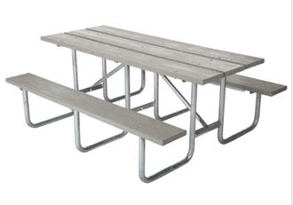 Peachy Commercial Outdoor Picnic Table Frame Kit 10 Ft Galvanized Machost Co Dining Chair Design Ideas Machostcouk