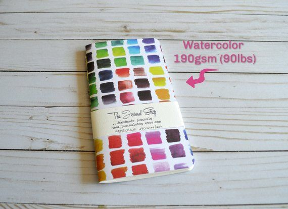 Tn Watercolor Journal Book Sketchbook Travelers Notebook Refil