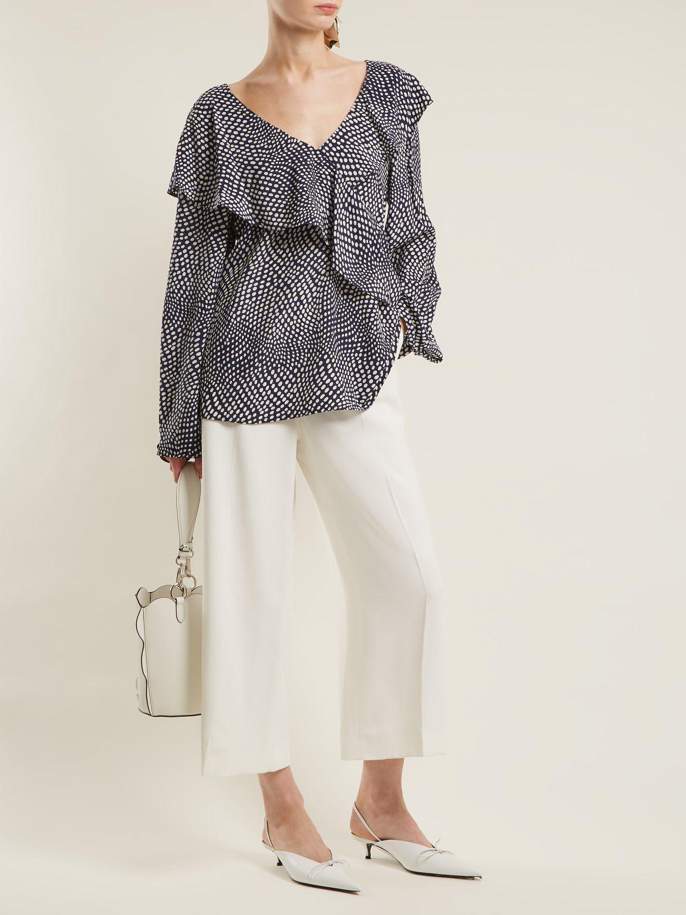 Cheap 100% Guaranteed Official Site Online Easton polka-dot print silk wrap top Diane Von Fürstenberg Cheap Comfortable Footlocker Sale Online Amazon Footaction ht9o5jM