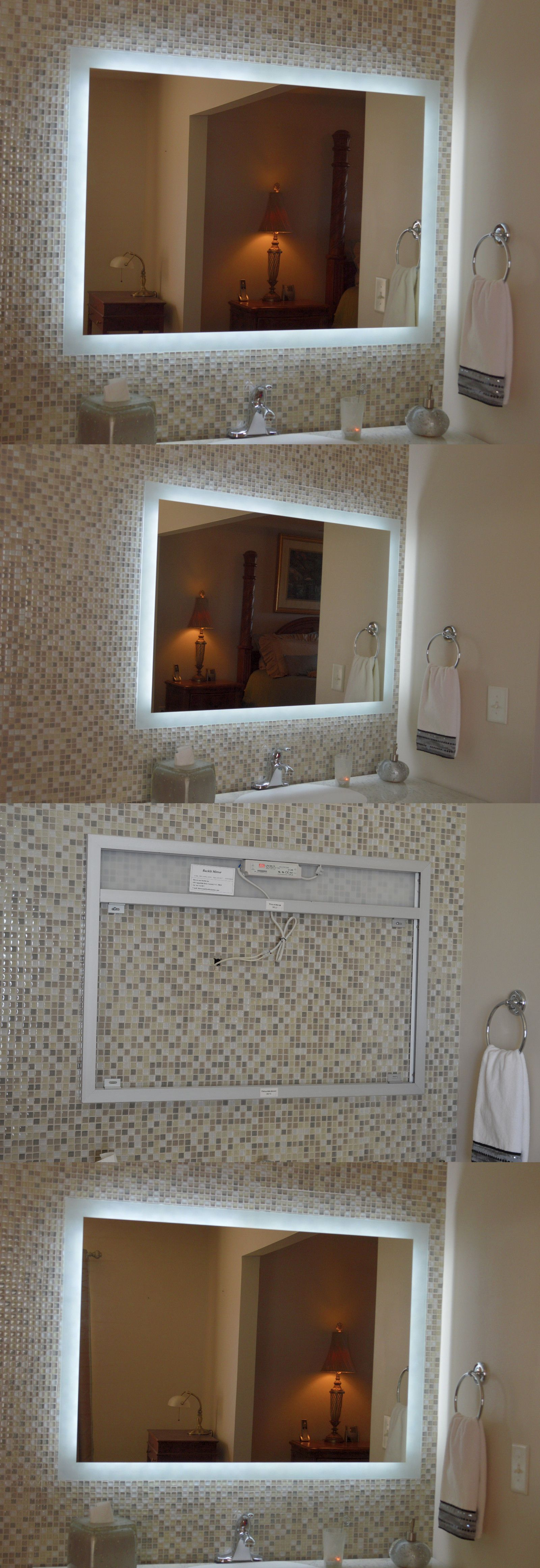 Mirrors 133693 Lighted Vanity Mirror Make Up Wall Mounted Led Bath