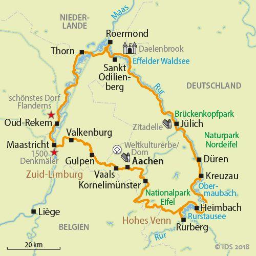 Aachen Sportliche 3 Lander Tour Radreise Radtour Velociped