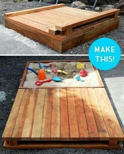 Cool Sandbox Diy Sandbox Outdoor Kids