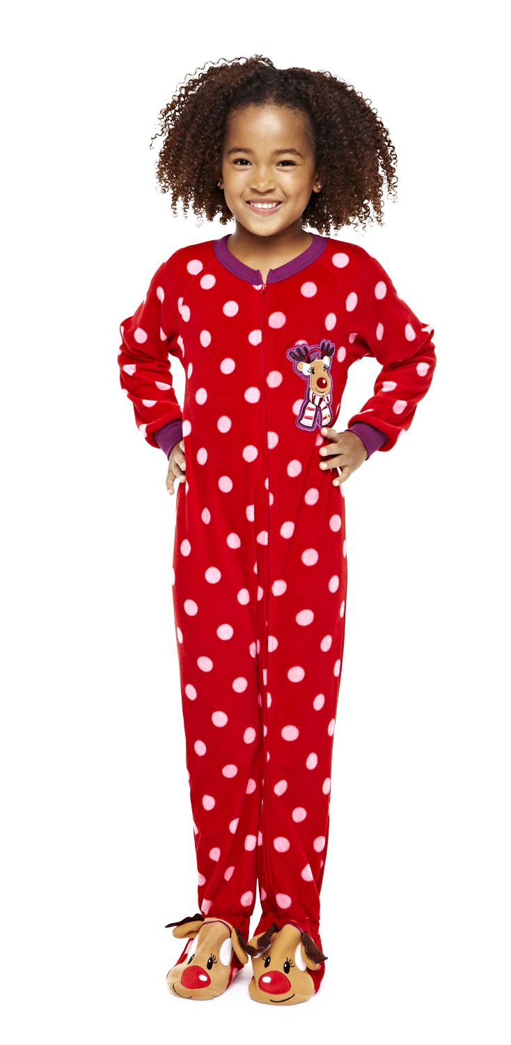 Footed Pajamas Red Holly Jolly Christmas Footie - Toddler | Zulily ...
