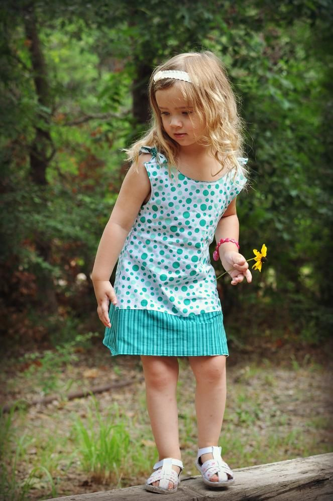 Allison Reversible Dress Sewing Pattern | Naaipatronen baby- en ...