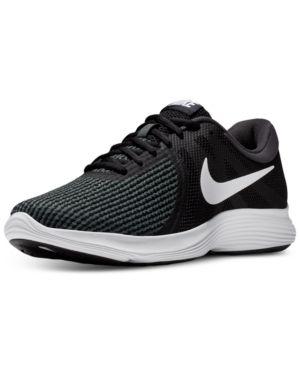buy online ca798 d39f3 Nike Men s Revolution 4 Running Sneakers from Finish Line - Black 9.5