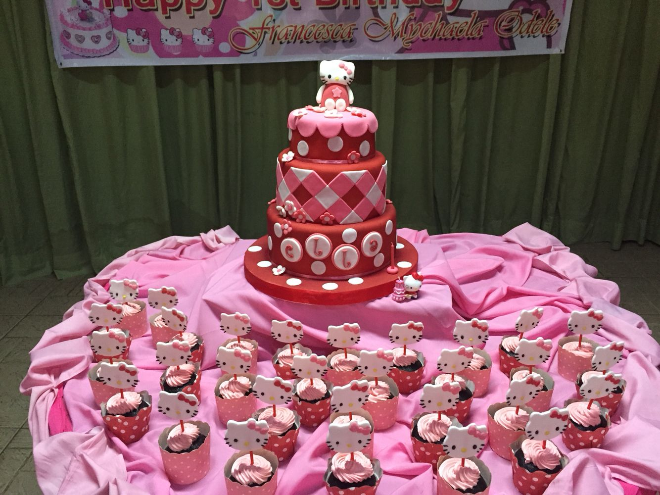 Birthday cake #hellokitty at Ella's birthday party