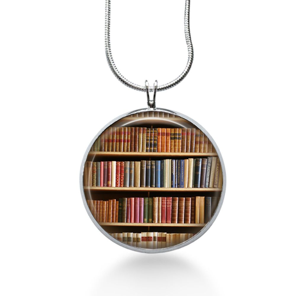 1ded25ea6bd Book necklace- Library jewelry