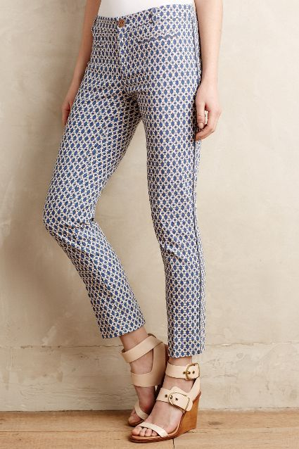 Mosaic Charlie Trousers - anthropologie.com