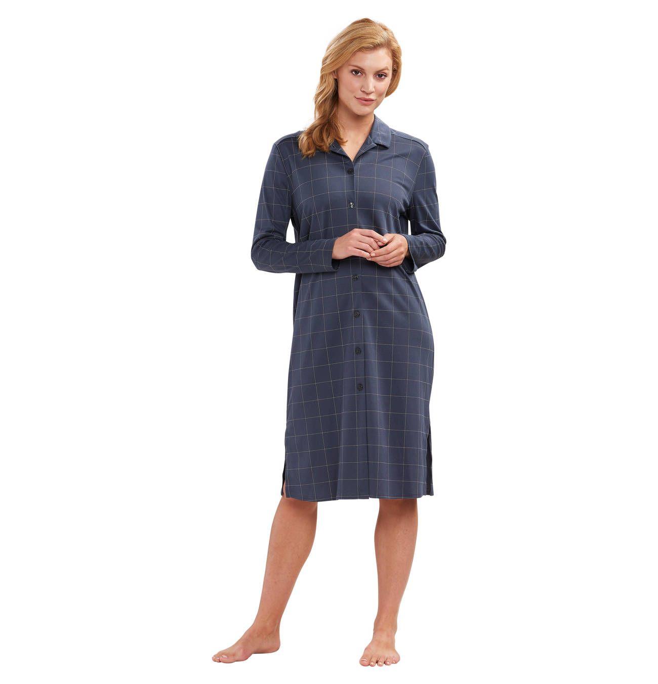 Nachthemd, lang, Knopfleiste  Nachthemd lang, Nachthemd und Wolle