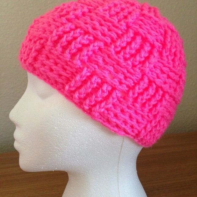 Basket Weave Beanie from Crafts by Kristen | Square Market