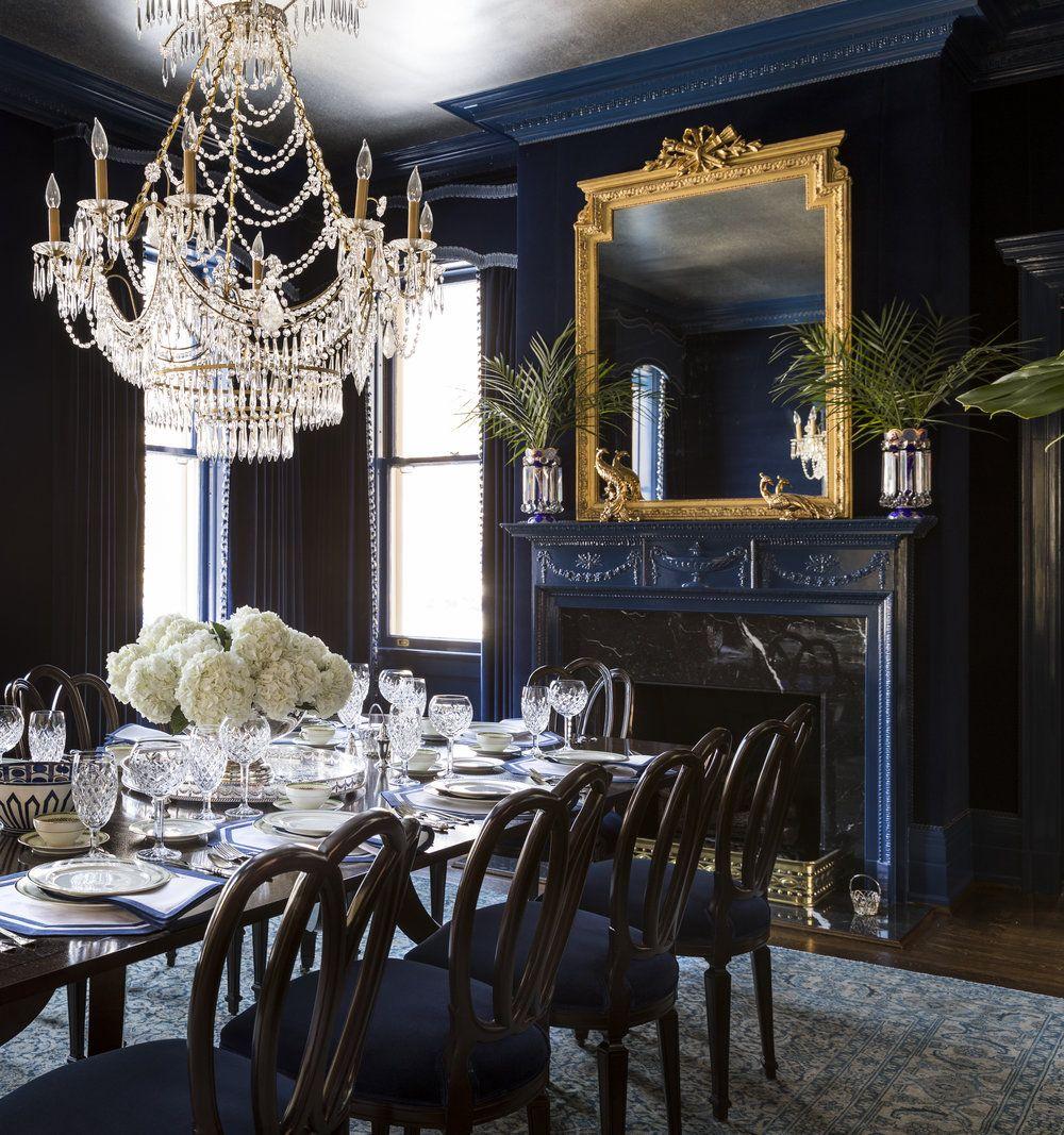 Grand Millennial Scw Interiors Dining Room Blue Georgian Interiors Veranda Magazine