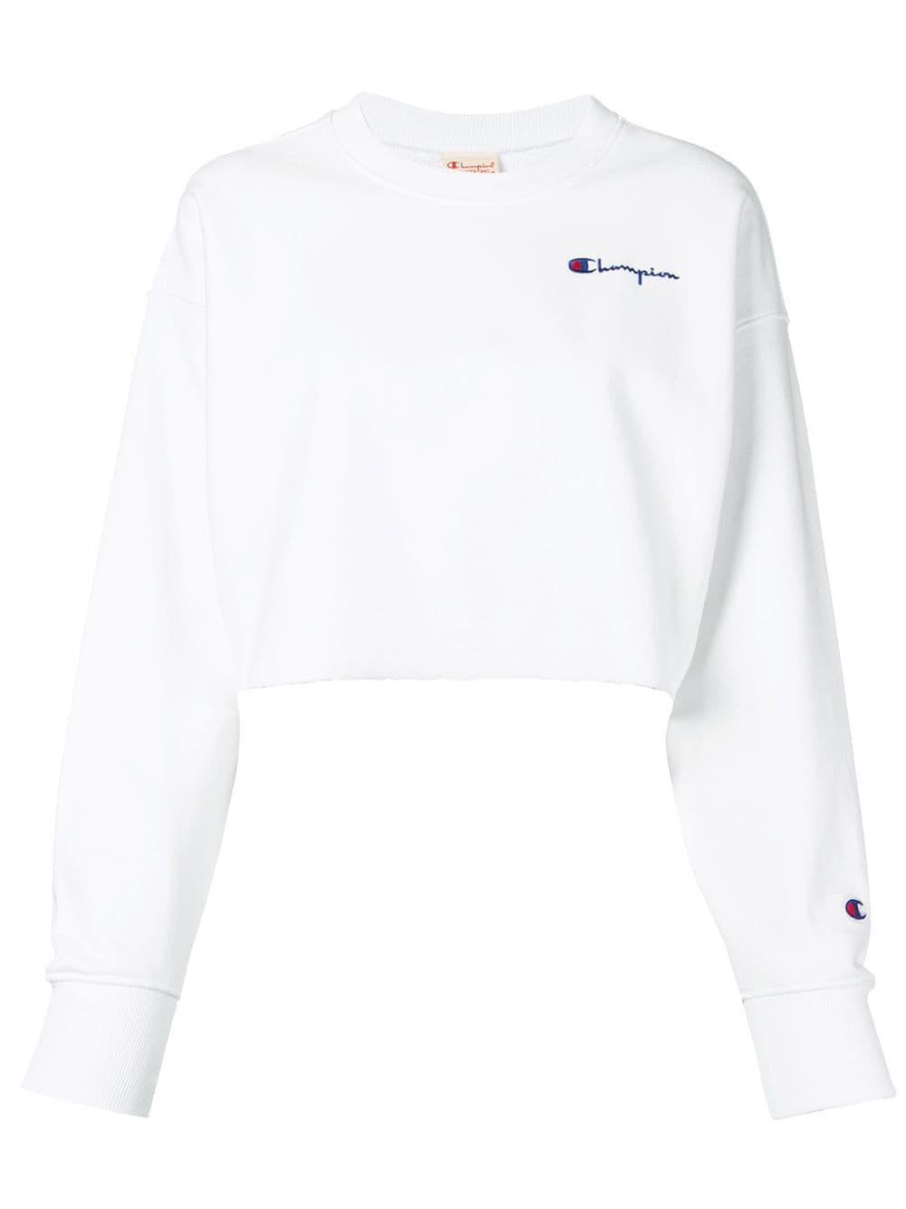 Champion Cropped Sweatshirt Farfetch Crop Sweatshirt Sweatshirts Cropped Sweatshirt Outfit [ 1334 x 1000 Pixel ]