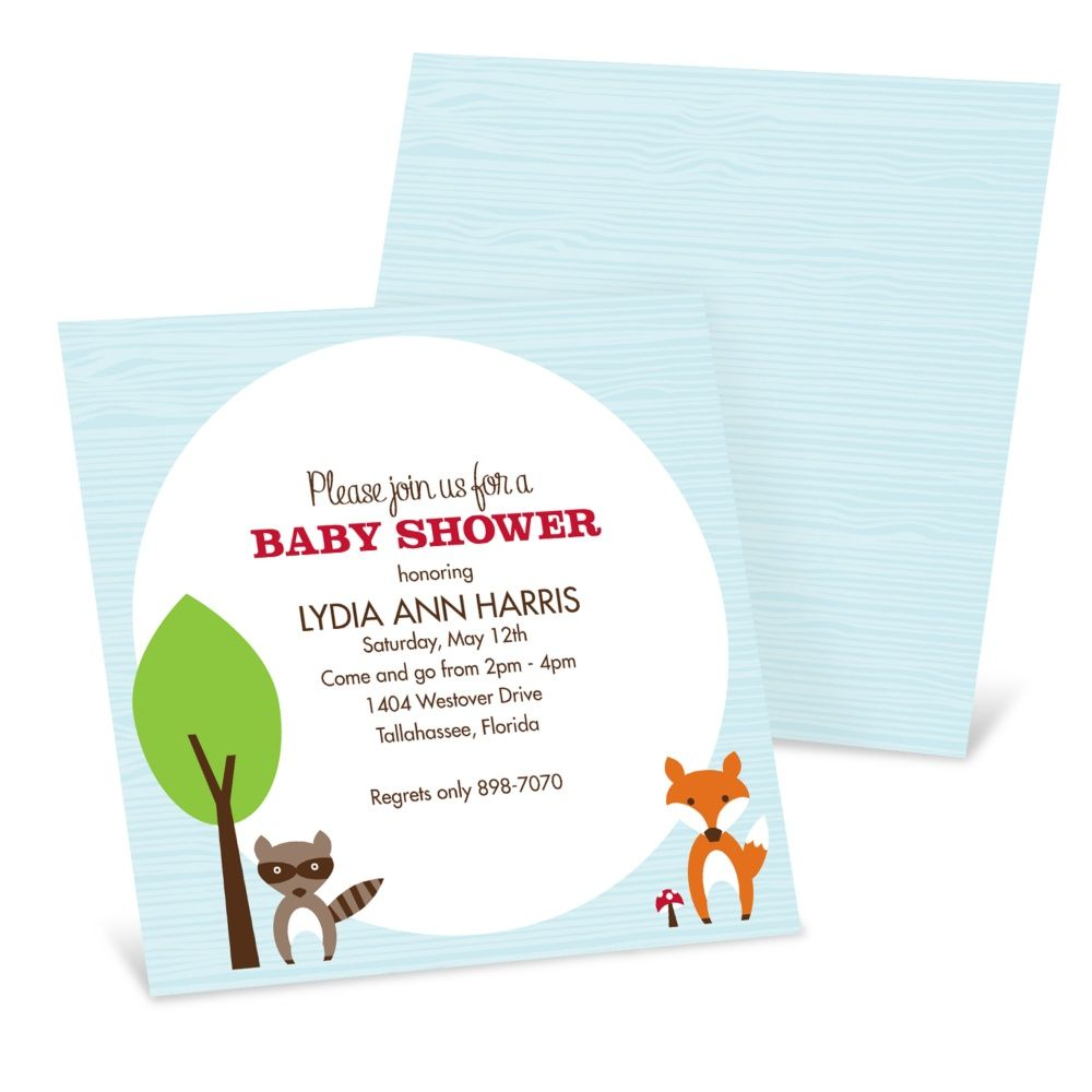 Baby Shower Invitations -- Nesting Outdoors | Pear Tree Greetings