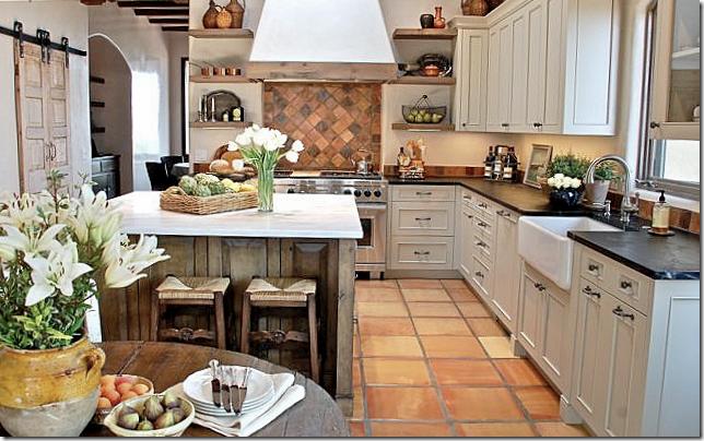 White Kitchen With Saltillo Tile  Tile Appearancethe Tiles Gorgeous How To Design Kitchen 2018
