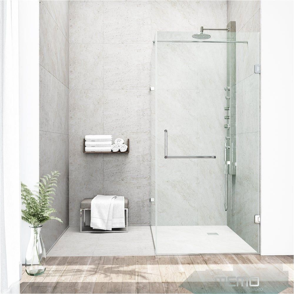 Jun 2 2020 Create An Exciting New Look In Your Bathroom With This Uniquely Stylish And Totally Frameless Vigo Rectangular Shaped S In 2020 Duschkabine Dusche Design